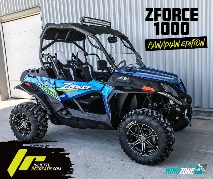 Le ZForce 1000 *Canadian Edition* deCFMOTO Canada