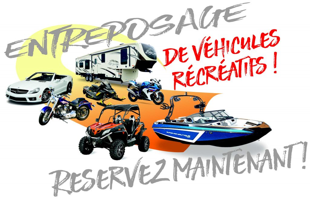 Entreposage de moto et entrepôt de véhicules récréatifs