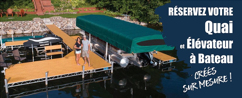 Quai et élévateur à bateau dans Lanaudière